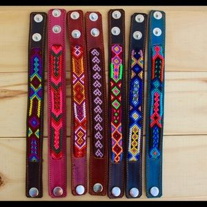 Jewelry - Hand woven leather bracelets